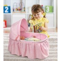 Badger Basket Rosebud Fabric Folding Doll Cradle