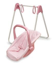 Badger Basket Pink/ White Doll Swing/ Carrier