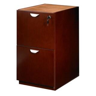 Mayline Mira Wood Veneer File/ File Pedestal for Credenza/ Return
