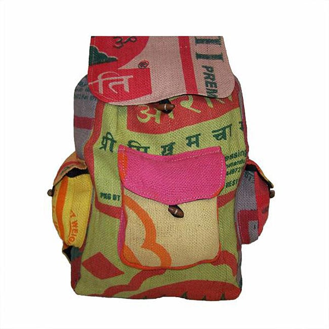 Handcrafted Recycled Jute Backpack (Nepal)