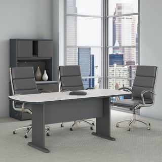 Series A & C 82W x 35D Racetrack Oval Conference Table in Slate