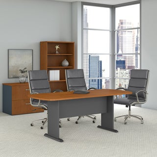 Series A & C 82W Racetrack Oval Conference Table in Natural Cherry