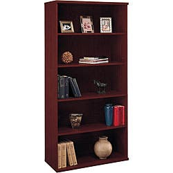 mahogany living room furniture. Corsa 5 shelf Double Bookcase Mahogany Living Room Furniture For Less  Overstock com