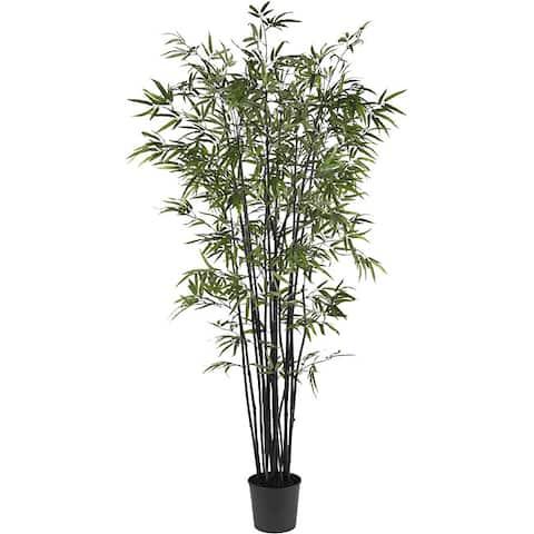 Black Bamboo 6.5-foot Silk Tree