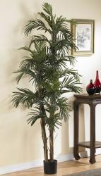 Robellini 6-foott Palm Silk Tree - Thumbnail 1