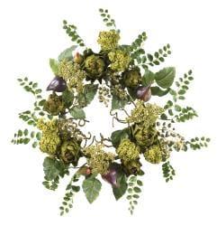 Artichoke 20-inch Floral Wreath - Thumbnail 1