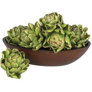 Decorative 5-inch Artichokes (Set of 6)|https://ak1.ostkcdn.com/images/products/4468571/P12418630.jpg?impolicy=medium