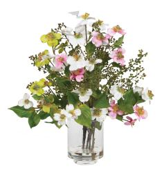 Silk Dogwood Flower Arrangement - Thumbnail 1