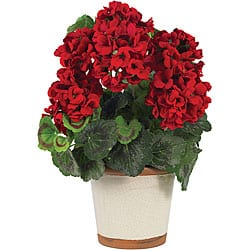 Christmas flowers plants for less overstock silk geranium flower plant mightylinksfo