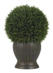 Cedar Ball Topiary Silk Plant - Thumbnail 1
