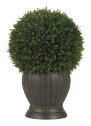 Cedar Ball Topiary Silk Plant - Thumbnail 2