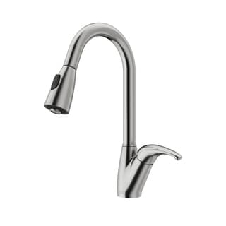 VIGO Dual Spray Control Stainless Steel Pull-Out Spray Kitchen Faucet