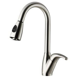 VIGO Romano Stainless Steel Pull-Down Spray Kitchen Faucet