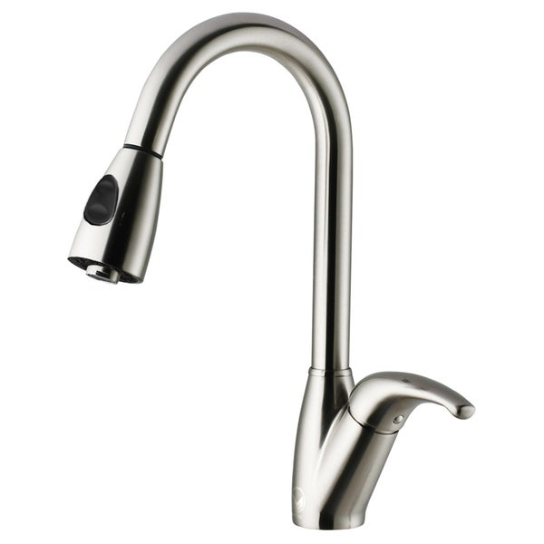 VIGO Romano Stainless Steel Pull-Down Spray Kitchen Faucet