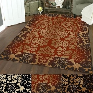 Admire Home Living Amalfi Paradise Transitional Area Rug (5'5 x 7'7) - 5'5 x 7'7