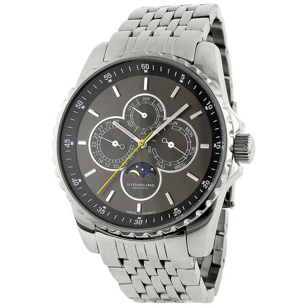 Stuhrling Original Men's Artemis Genteel Silvertone Quartz Watch
