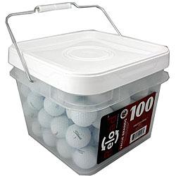 Titleist NXT 100-piece Tour Golf Balls in a Free Bucket (Refurbished)