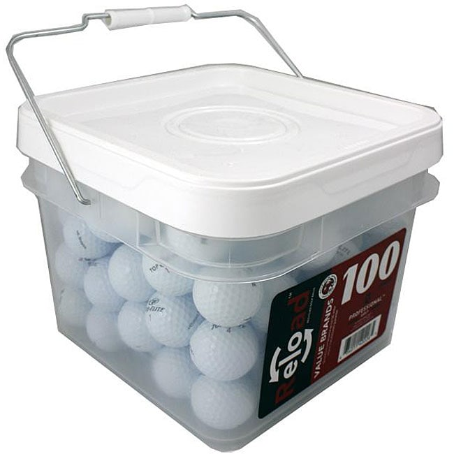 Top Flite Recycled Golf Balls with Bucket (Pack of 100)