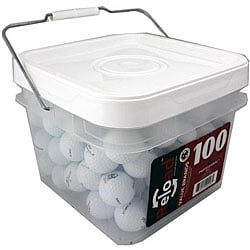 Pinnacle Recycled Golf Balls with Bucket (Pack of 100)