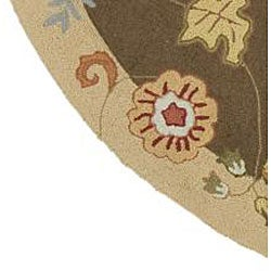 Hand-hooked Carnation Wool Rug (6' Round) - Thumbnail 2