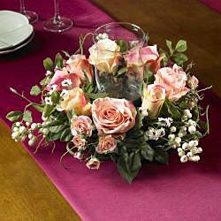 Rose Candleabrum Silk Flower Arrangement - Thumbnail 1
