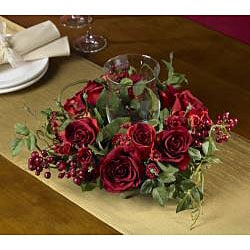 Rose Candleabrum Silk Flower Arrangement - Thumbnail 2