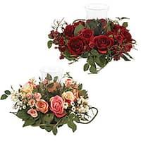 Rose Candleabrum Silk Flower Arrangement