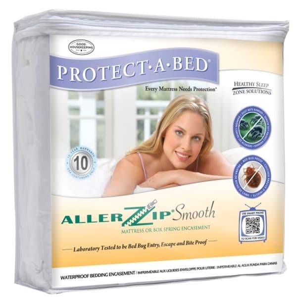 allerzip smooth queensize bedbugproof mattress protector - Bed Bug Protector