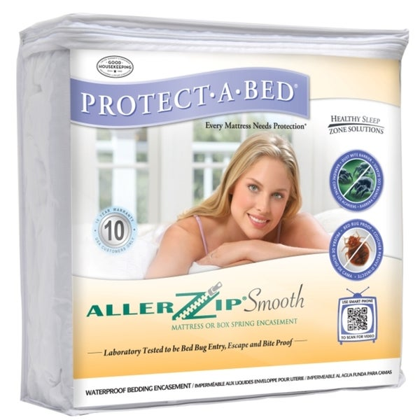 allerzip smooth king-size bedbug-proof mattress protector - free