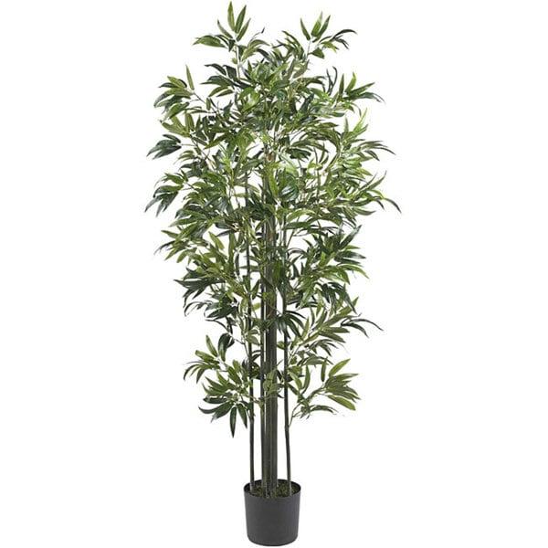 Nearly Natural 6-foot Bamboo Silk Tree (Green Trunks)