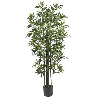 Nearly Natural 6-foot Bamboo Silk Tree (Green Trunks)