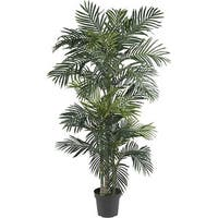 Silk 6.5-foot Golden Cane Palm Tree