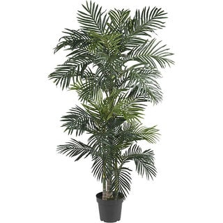 Silk 6.5 Foot Golden Cane Palm Tree Part 94