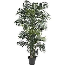 Silk 6.5-foot Golden Cane Palm Tree