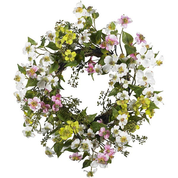 Dogwood 20-inch Wreath. Opens flyout.