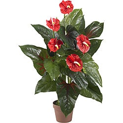 Real Touch 3-foot Anthurium Silk Plant