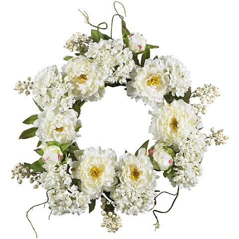 20-inch Peony Hydrangea Wreath