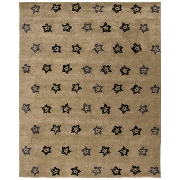 "Safavieh Handmade Soho Leaves Sage New Zealand Wool Rug - 9'-6"" x 13'-6"""