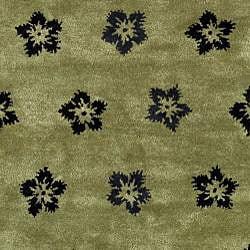 Safavieh Handmade Soho Leaves Sage New Zealand Wool Rug (5' x 8')