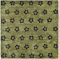 Safavieh Handmade Soho Leaves Sage New Zealand Wool Rug (5' x 8') - 5' x 8'