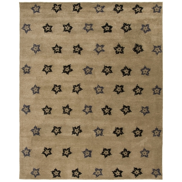 "Safavieh Handmade Soho Leaves Sage New Zealand Wool Rug - 7'6"" x 9'6"""