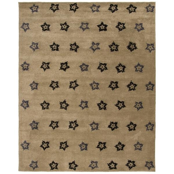 "Safavieh Handmade Soho Leaves Sage New Zealand Wool Rug - 8'-3"" x 11'"