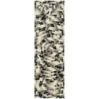 "Safavieh Handmade Soho Mosaic Modern Abstract Black Wool Runner Rug - 2'6"" x 12'"