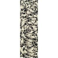 "Safavieh Handmade Soho Mosaic Modern Abstract Black Wool Runner Rug - 2'6"" x 8'"