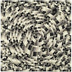 Safavieh Handmade Soho Mosaic Modern Abstract Black Wool Rug (6' x 6' Square)