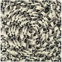 Safavieh Handmade Soho Mosaic Modern Abstract Black Wool Rug - 6' x 6' Square