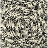 Safavieh Handmade Soho Mosaic Modern Abstract Black Wool Rug (6' x 6' Square)