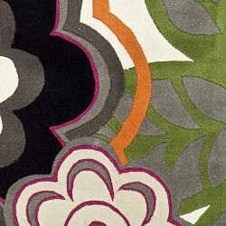 Safavieh Handmade Flower Power Ivory/ Multi N. Z. Wool Runner (2'6 x 8)