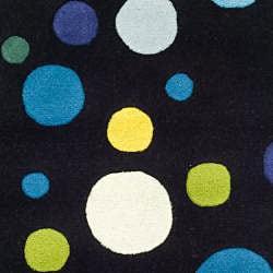 Safavieh Handmade Soho Bubblegum Black/ Multi N. Z. Wool Runner (2'6 x 8') - Thumbnail 2
