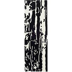 Safavieh Handmade Soho Deco Black/ White N. Z. Wool Runner (2'6 x 12')